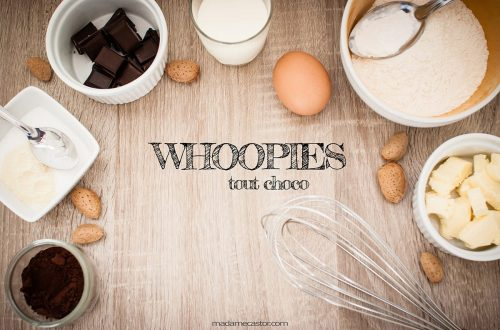 Ingrédients pour whoopies pie chocolat