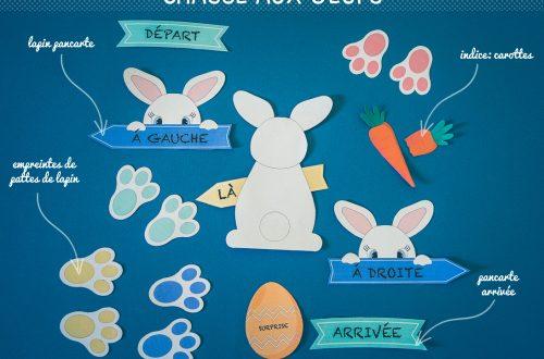 chasse aux oeufs de Pâques à imprimer en appartement