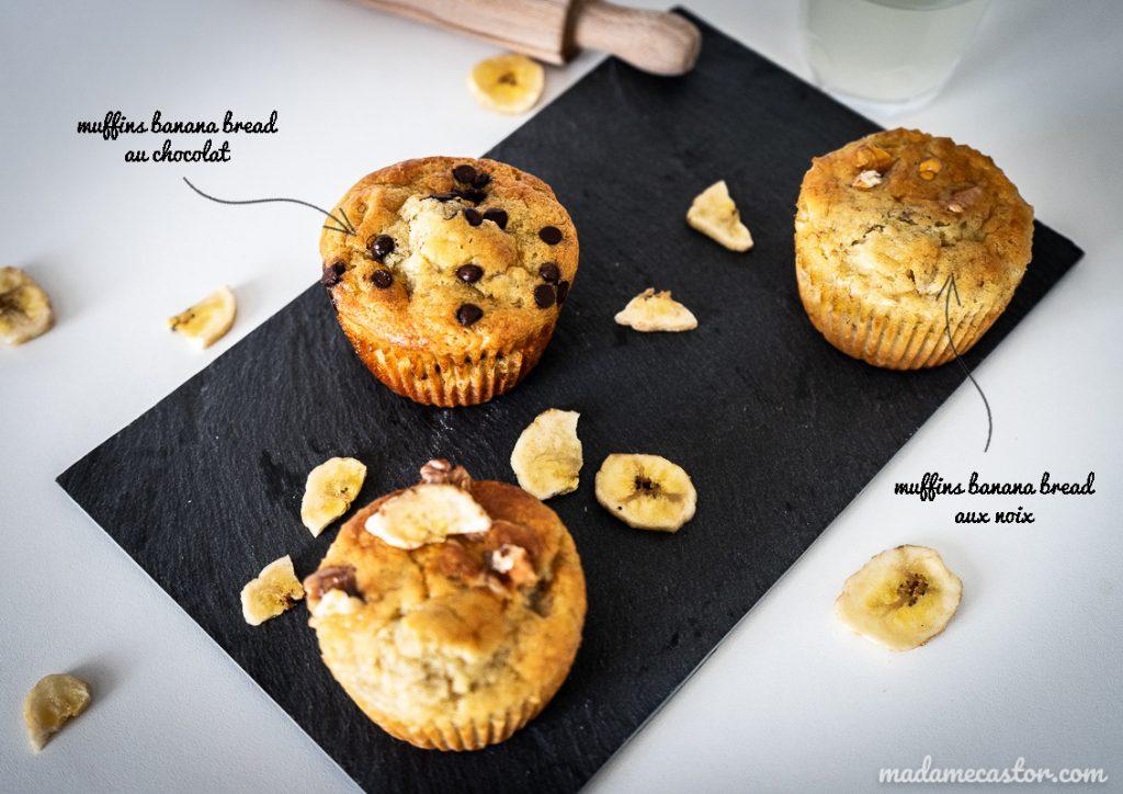 banana bread muffins enfant chocolat