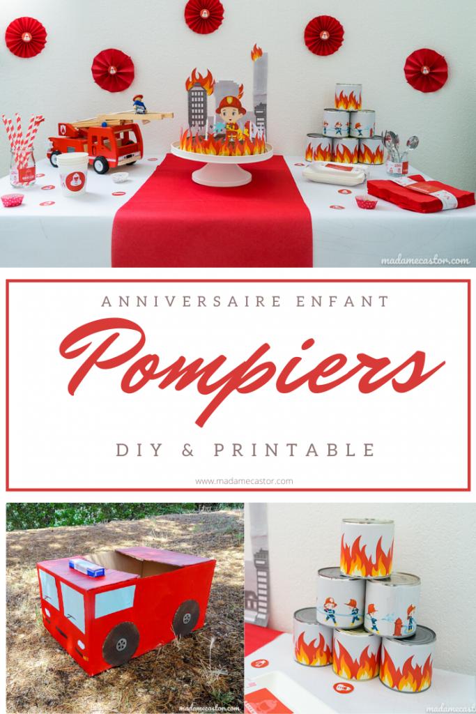 Un Anniversaire Pompiers Diy Printable Madame Castor