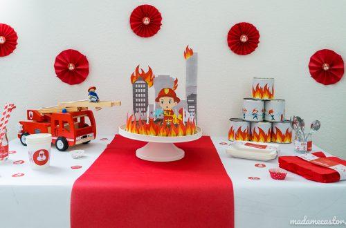 Décoration anniversaire pompiers enfant
